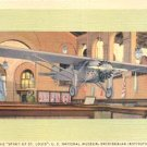 THE SPIRIT OF ST. LOUIS U.S. NATIONAL MUSEUM SMITHSONIAN INSTITUTION LINEN POSTCARD #214 UNUSED