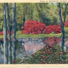 GARDEN LAKE IN BELLINGRATH GARDENS MOBILE ALABAMA LINEN POSTCARD #215 UNUSED