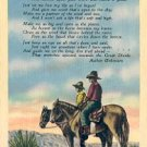 COWBOYS' PRAYER LINEN POSTCARD #218 USED 1945