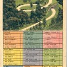 BUSY PERSON'S CORRESPONDENCE THE LOOP NEWFOUND GAP HWY SMOKY MOUNTAINS LINEN POSTCARD #231 UNUSED