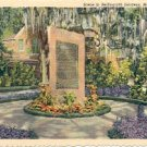 GRANITE MONOLITH IN BELLINGRATH GARDENS MOBILE ALABAMA LINEN POSTCARD #239 UNUSED