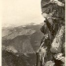 OVERHANGING ROCK - GLACIER POINT RPPC REAL PICTURE BLACK & WHITE POSTCARD #245 USED 1957