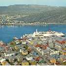 VIEW OF THE TOWN HAMMERFEST NORWAY COLOR PICTURE POSTCARD #251 UNUSED