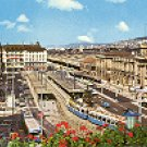 ZURICH - PLACE IN FRONT OF MAIN STATION COLOR PICTURE POSTCARD #277 UNUSED
