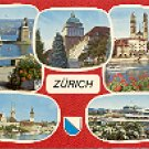 ZURICH SWITZERLAND COLOR PICTURE POSTCARD #278 USED 1971