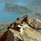 PILATU-KULM BURGENSTOCK und ALPEN SWITZERLAND COLOR PICTURE POSTCARD #309 UNUSED