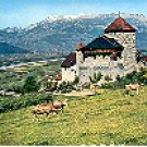 CASTLE  RHINE VALLEY LIECHTENSTEIN COLOR PICTURE POSTCARD #312 UNUSED