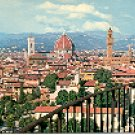 PANORAMA FLORENCE ITALY COLOR PICTURE POSTCARD #325 UNUSED
