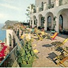 TERRACE OF THE CAESAR AUGUSTUS HOTEL CAPRI ITALY COLOR PICTURE POSTCARD #338 UNUSED