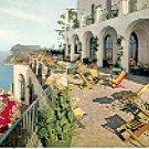 TERRACE OF THE CAESAR AUGUSTUS HOTEL CAPRI ITALY COLOR PICTURE POSTCARD #338 UNUSED