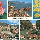 MONACO: THE ROCK & GARDENS OF THE CASINO & PALACE FRANCE COLOR PICTURE POSTCARD #339 UNUSED