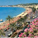 NICE: COTE d' AZUR FRENCH RIVIERA:PROMENADE DES ANGLAIS FRANCE COLOR PICTURE POSTCARD #343 UNUSED