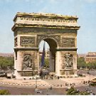 L'ARC de TRIOMPHE  PARIS FRANCE COLOR PICTURE POSTCARD #370 UNUSED