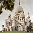 THE SACRE-COEUR ON THE BUTTE MONTMARTRE PARIS FRANCE COLOR PICTURE POSTCARD #380 UNUSED