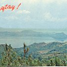 VIEW OF THE TAAL VOLCANO & LAKE TAGAYTAY PHILIPPINES COLOR PICTURE POSTCARD #399 UNUSED