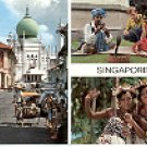 SINGAPORE CITY OF THE LION COLOR PICTURE POSTCARD #404 USED 1971