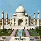 TAJ MAHAL - AGRA (INDIA) GARDEN VIEW COLOR PICTURE POSTCARD #416 UNUSED