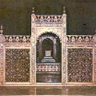 MARBLE SCREEN AT TAJMAHAL INDIA COLOR PICTURE POSTCARD #418 UNUSED