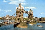 TOWER BRIDGE LONDON ENGLAND COLOR PICTURE POSTCARD #434 UNUSED