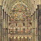 WESTMINSTER ABBEY THE SOUTH ROSE WINDOW LONDON ENGLAND COLOR PICTURE POSTCARD #436 UNUSED