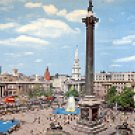 TRAFALGAR SQUARE LONDON ENGLAND COLOR PICTURE POSTCARD #438 UNUSED