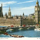 THE HOUSES OF PARLIAMENT LONDON ENGLAND COLOR PICTURE POSTCARD #439 UNUSED