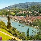 ARIEL VIEW OF HEIDELBERG GERMANY COLOR PICTURE POSTCARD #447 UNUSED