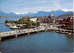 MOUNTAINS OF LUCERNE (LUZERN) SWITZERLAND COLOR PICTURE POSTCARD #449 UNUSED