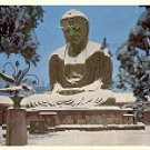 THE BRONZE AMITA-BUDDHA IN WINTER COLOR PICTURE POSTCARD #468 UNUSED