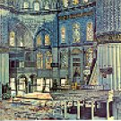 INTERIOR OF THE BLUE MOSQUE ISTANBUL TURKEY COLOR PICTURE POSTCARD #470 UNUSED