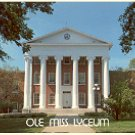 LYCEUM BUILDING UNIVERSITY OF MISSISSIPPI - OXFORD MISS. COLOR PICTURE POSTCARD #490 UNUSED
