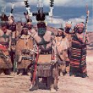 APACHE INDIAN DEVIL DANCE NEW NEXICO COLOR PICTURE POSTCARD #499 UNUSED