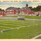 WYTHEVILLE HIGH SCHOOL & ATHLETIC FIELD WYTHEVILLE VIRGINIA LINEN POSTCARD #504 UNUSED