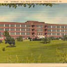 INFIRMARY BLUE RIDGE SANATORIUM CHARLOTTESVILLE VIRGINIA LINEN POSTCARD #505 UNUSED