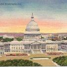 UNITED STATES CAPITOL WASHINGTON D.C. LINEN POSTCARD #507 UNUSED