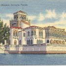 JOHN RINGLING MANSION SARASOTA FLORIDA  S22 LINEN POSTCARD #511 UNUSED