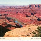COLORADO RIVER FROM DEAD HORSE POINT MOAB UTAH COLOR POSTCARD #524 UNUSED 1978