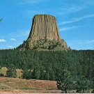 DEVIL'S TOWER NATIONAL MONUMENT WYOMING COLOR POSTCARD #566 UNUSED 1978