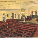 INTERIOR OLD ST. JOHN'S CHURCH RICHMOND VIRGINIA LINEN POSTCARD #557 UNUSED
