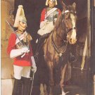 MOUNTED & DISMOUNTED SENTRIES THE LIFE-GUARD WHITEHALL LONDON COLOR PICTURE POSTCARD #567 USED 1977
