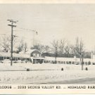 SHORELINE LODGE 3330 SKOKIE VALLEY RD HIGHLAND PARK ILL. BLACK & WHITE PICTURE POSTCARD #570 UNUSED