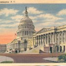 U.S. CAPITOL WASHINGTON D.C. LINEN POSTCARD #573 UNUSED