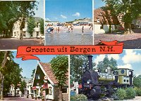 GROETEN UIT BERGEN N.H. NOORD-HOLLAND COLOR POSTCARD #588 UNUSED