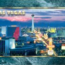STRATOSPHERE TOWER LAS VEGAS STRIP NEVADA WILLIAM CARR COLLECTION COLOR PICTURE POSTCARD #597 UNUSED