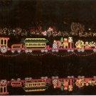 CHRISTMAS LIGHTS BG&H TRAIN MIRROR LAKE BELLINGRATH GARDENS MOBILE COLOR PICT POSTCARD #606 UNUSED