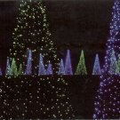 CHRISTMAS LIGHTS EMERALD FOREST BELLINGRATH GARDENS MOBILE AL. COLOR PICTURE POSTCARD #608 UNUSED