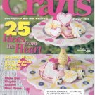 CRAFTS MAGAZINE BACK ISSUE ~ FEBRUARY 2001 ~ 25 IDEAS FROM THE HEART NEAR MINT