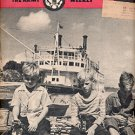 YANK THE ARMY WEEKLY AUGUST 10 1945 - THE MISSISSIPPI IN WARTIME BACK ISSUE MAGAZINE GOOD COND