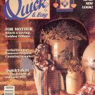 QUICK & EASY CROSS STITCH BACK ISSUE CRAFTS MAGAZINE APRIL - MAY 1990 NEAR MINT