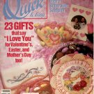 QUICK & EASY CROSS STITCH BACK ISSUE CRAFTS MAGAZINE FEBRUARY MARCH 1991 NEAR MINT